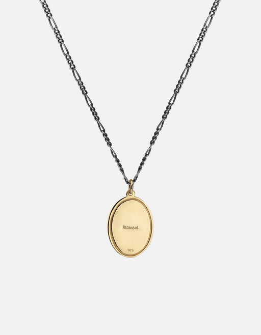Velocity Pendant Necklace, Gold Vermeil on Sterling Silver Chain, Oxidized | Men's Necklaces | Miansai