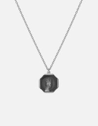Faceless King Pendant Necklace w/Enamel, Sterling Silver, Polished | Men's Necklaces | Miansai