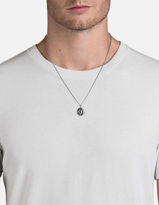 Miansai - Faceless King Necklace, Sterling Silver/Gray