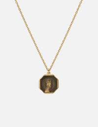 Faceless King Pendant Necklace w/Enamel, Gold Vermeil, Polished | Men's Necklaces | Miansai