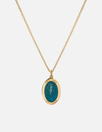 Miansai - Fortuna Necklace, Gold Vermeil/Teal