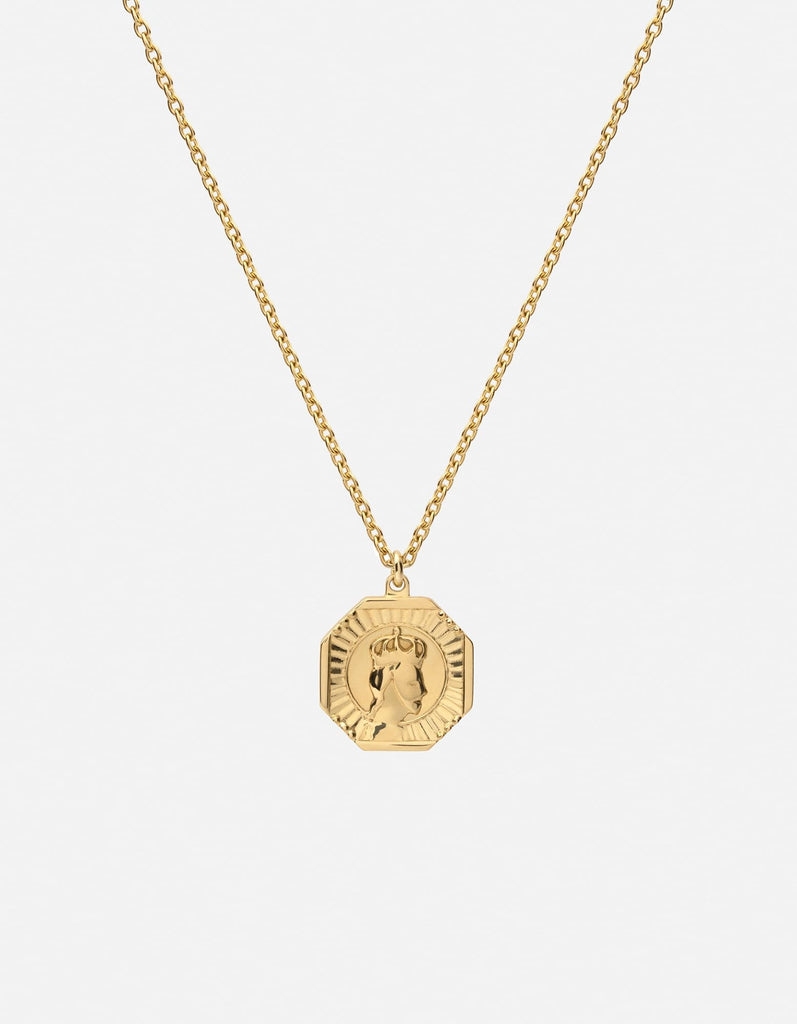 Faceless King Pendant Necklace, Gold Vermeil, Polished | Women's Necklaces | Miansai