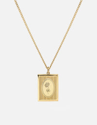 Miansai - Poppy Frame Necklace, Gold Vermeil