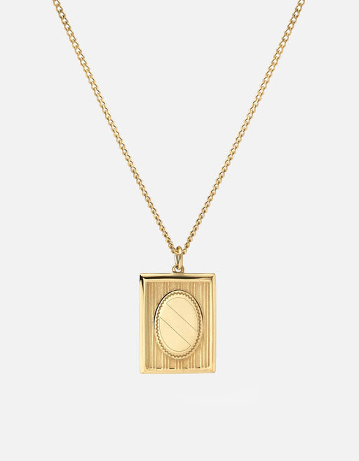 Miansai - Frame Necklace, Gold