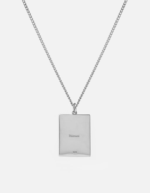 Poppy Frame Pendant Necklace, Sterling Silver, Polished | Women's Necklaces | Miansai