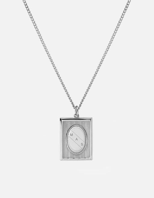 Miansai - Frame Necklace, Sterling Silver