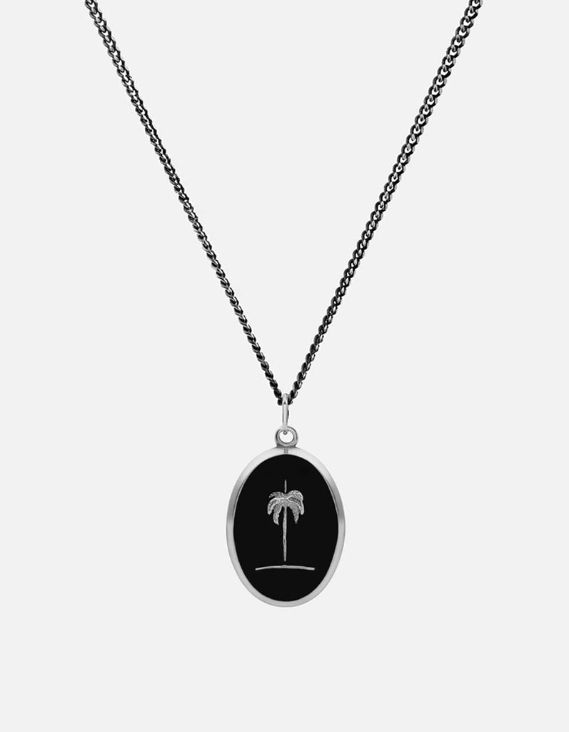 Miansai - Palm Tree Necklace, Sterling Silver/Black