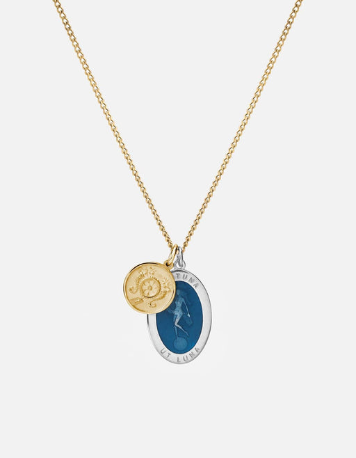 Miansai - Fortuna Necklace, Sterling Silver/14k Gold/Blue