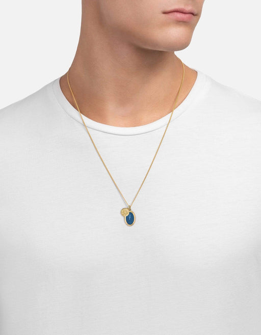 Miansai - Fortuna Necklace, 14k Gold/Blue