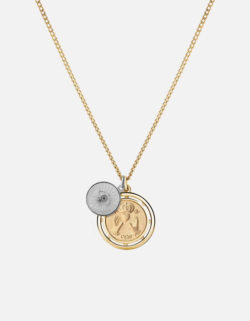 Test of Time Pendant Necklace, 14k Yellow Gold/Sterling Silver, Polished | Women's Necklaces | Miansai