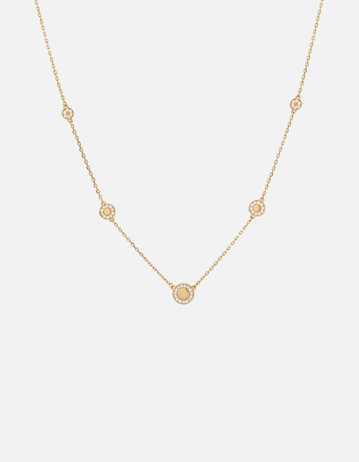 Halo Necklace, Gold Vermeil w/White Sapphires, Polished | Women's Necklaces | Miansai