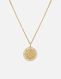 Test of Time Pendant Necklace, Gold Vermeil w/White Sapphires, Matte | Women's Necklaces | Miansai