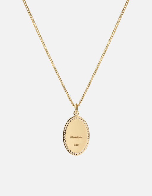 Fortuna Pendant Necklace, Gold Vermeil w/White Sapphires, Polished, 18in. | Women's Necklaces | Miansai