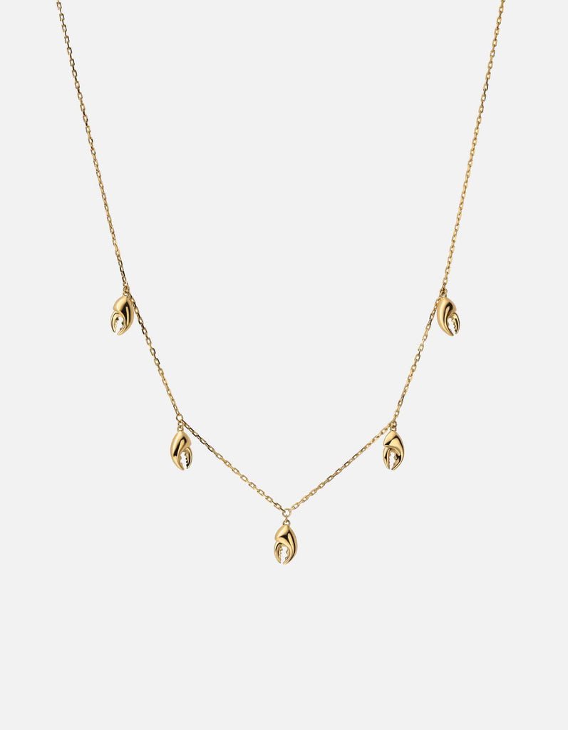 Lobster Claw Necklace, Gold Vermeil, Polished, 16in. | Women's Necklaces | Miansai