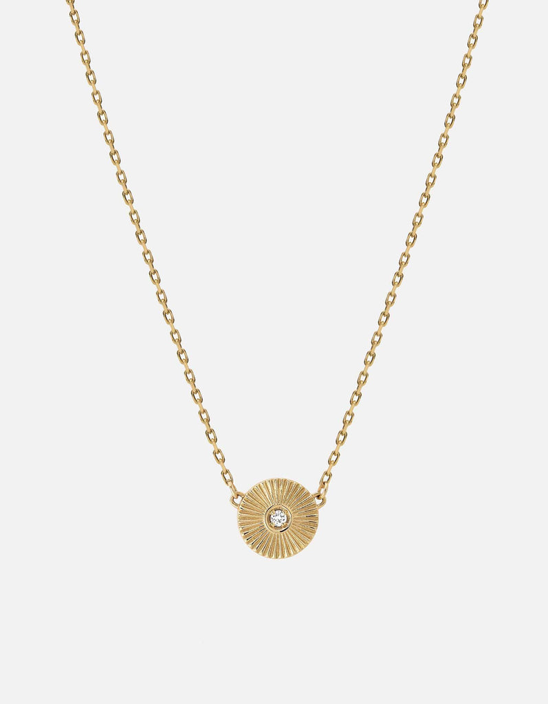 Mini Rey Necklace, 14k Yellow Gold w/Diamond, Polished | Mommy and Me | Miansai