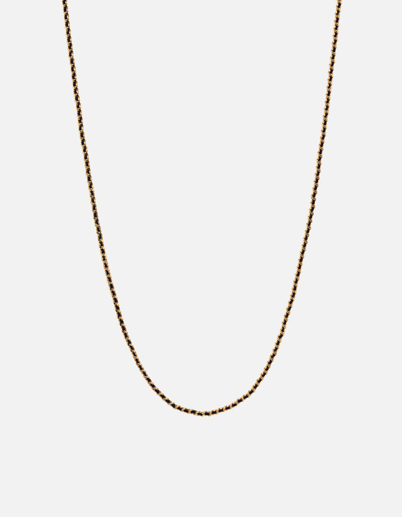 2mm Woven Chain Necklace, Gold Vermeil | Men's Necklaces | Miansai