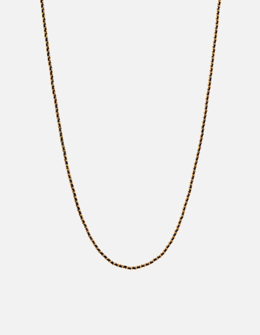 Miansai - 2mm Woven Chain Necklace, Gold Vermeil