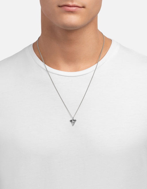 Shark Tooth Necklace, Sterling Silver, Polished | Men's Necklaces | Miansai