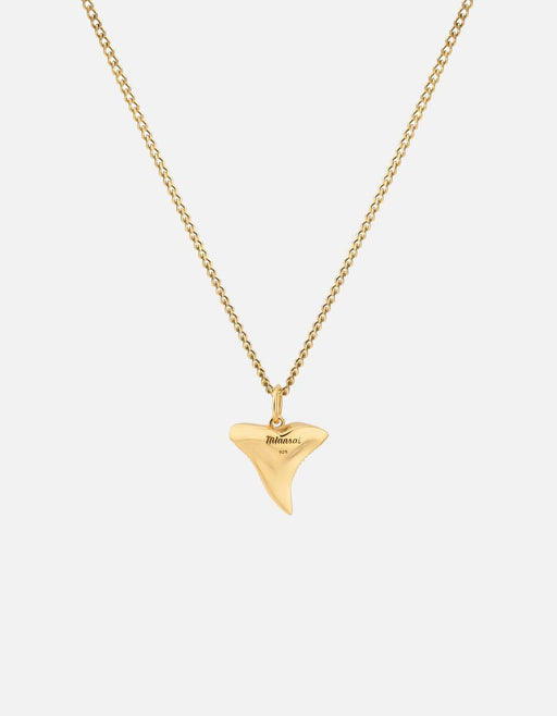 Miansai - Shark Tooth Necklace, Gold Vermeil
