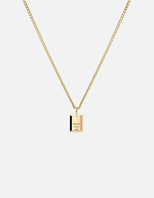 Miansai - Lennox Necklace, Gold Vermeil/Green