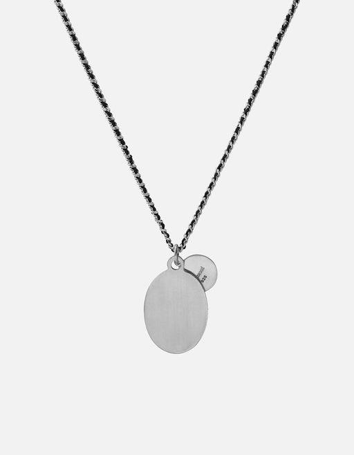 Miansai - Dove Woven Chain Necklace, Black/Matte Silver