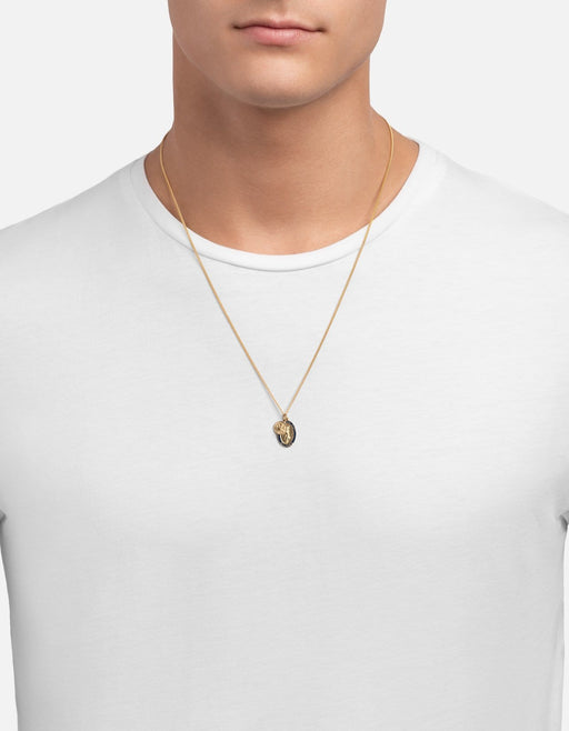 Victoria Pendant Necklace w/Enamel, Gold Vermeil, Polished | Men's Necklaces | Miansai