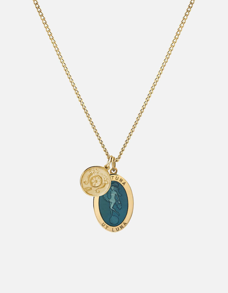 Fortuna Pendant Necklace w/Enamel, Gold Vermeil, Polished | Men's Necklaces | Miansai