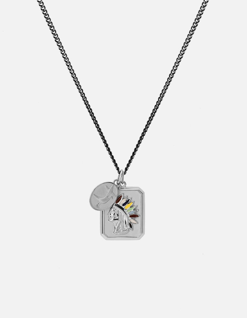 Hiawatha Pendant w/Enamel Necklace, Sterling Silver | Men's Necklaces | Miansai