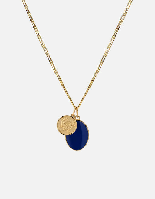 Heritage Pendant Necklace, Gold Vermeil/Blue | Men's Necklaces | Miansai