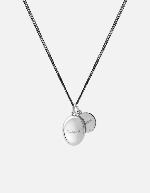 Heritage Pendant Necklace, Sterling Silver, Black - Miansai