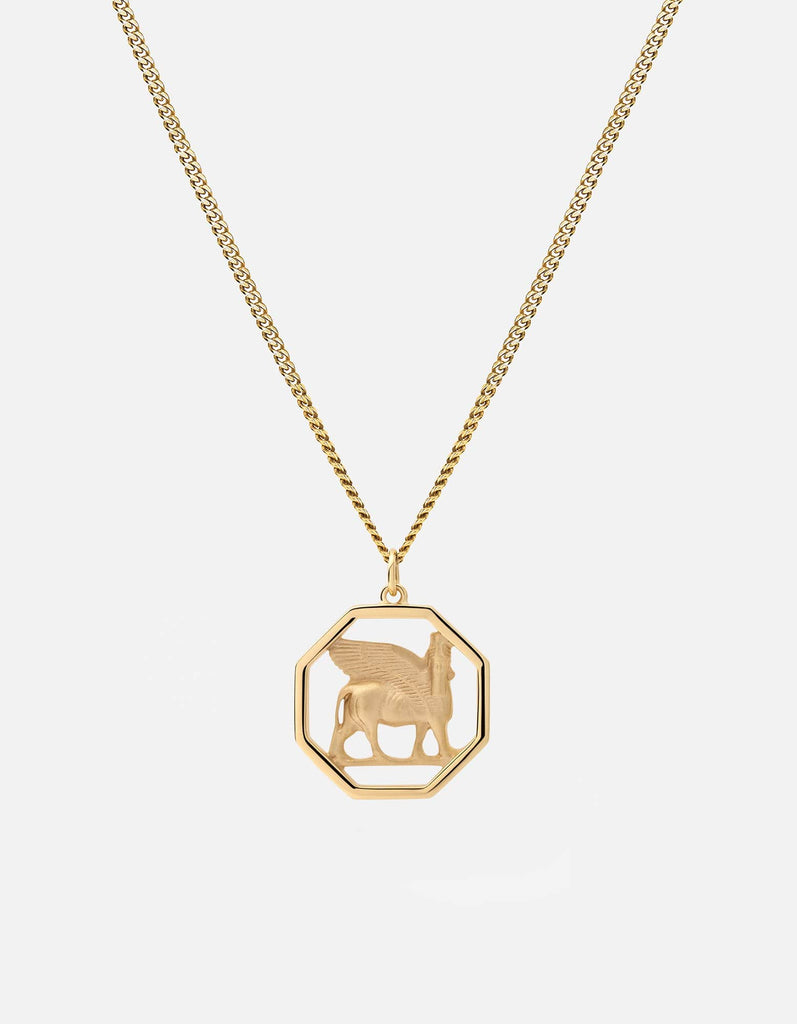 Lamassu Pendant Necklace, Gold Vermeil | Men's Necklaces | Miansai