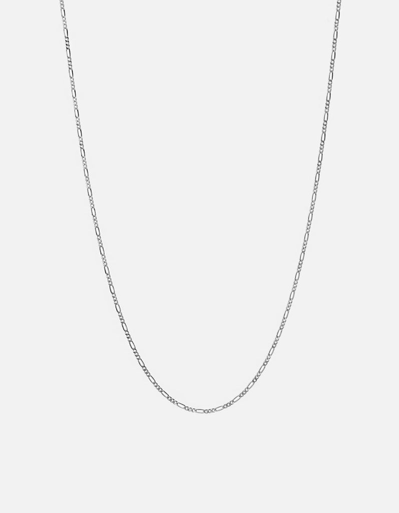 Figaro Chain Necklace, Sterling Silver, Polished Silver - Miansai