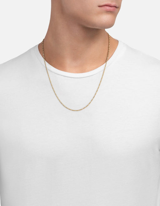 Figaro Chain Necklace, Gold Vermeil, Polished Gold, Miansai