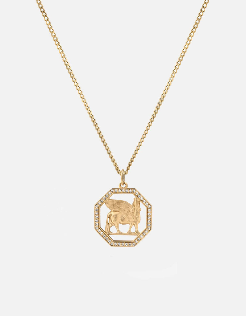 Lamassu Necklace, Gold Vermeil/Sapphire | Women's Necklaces | Miansai
