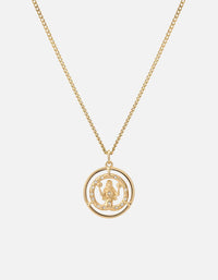 Eternita Pendant w/Pave Sapphire Necklace, Gold Vermeil, Polished Gold - Miansai