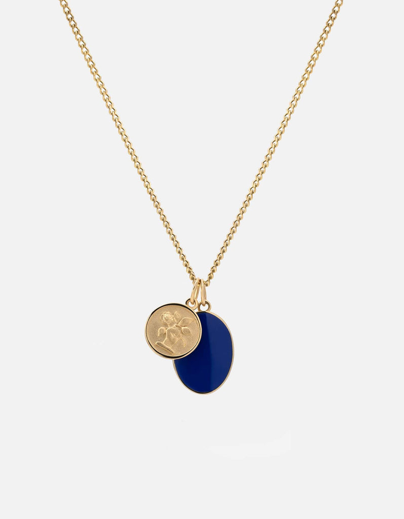 Heritage Pendant Necklace, Gold Vermeil, Blue - Miansai
