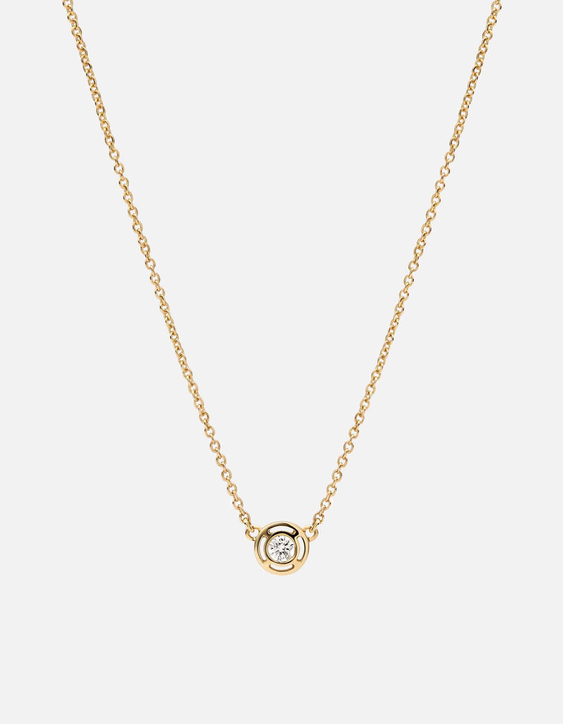 Mini Luna Necklace w/Diamond, 14K Yellow Gold | Mommy and Me | Miansai