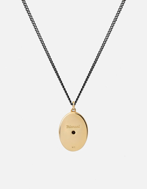 Argyle Black Diamond Pendant Necklace w/Enamel, Gold Vermeil | Men's Necklaces | Miansai