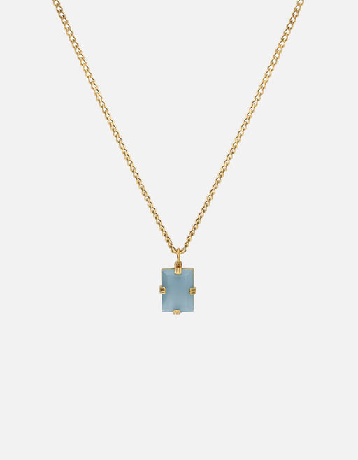 Lennox Blue Agate Necklace, Gold Vermeil, Agate Blue - Miansai