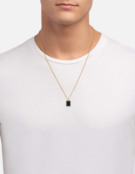 Lennox Onyx Necklace, Gold Vermeil, Black - Miansai