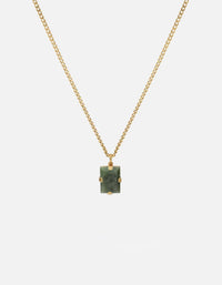 Lennox Jasper Green Necklace, Gold Vermeil | Men's Necklaces | Miansai