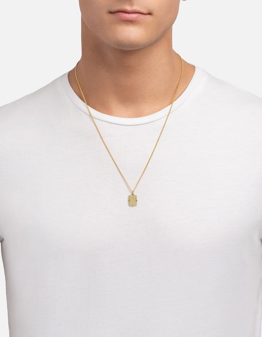 Lennox Amethyst Smoky Necklace, Gold Vermeil | Men's Necklaces | Miansai