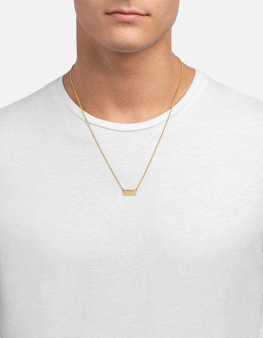 Miansai - Numero Necklace, 14k Gold