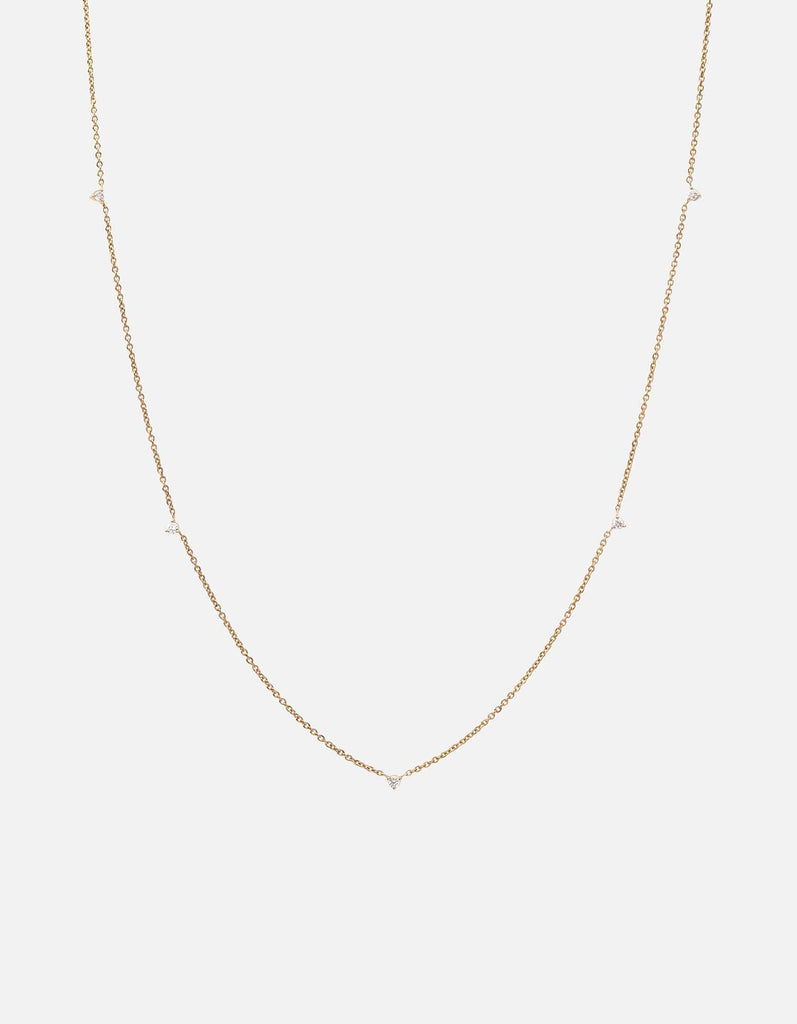 Miansai - Capra Necklace, 14k Gold Pavé