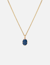Portal Pendant Necklace w/ Enamel, Gold Vermeil, Blue - Miansai