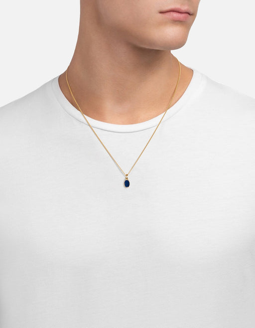 Portal Pendant Necklace w/ Enamel, Gold Vermeil | Men's Necklaces | Miansai