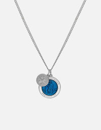 Saint Christopher Surf Necklace, Sterling Silver/Enamel | Men's Necklaces | Miansai