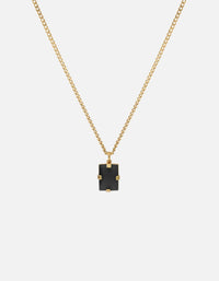 Lennox Onyx Necklace, 14k Yellow Gold, Black - Miansai