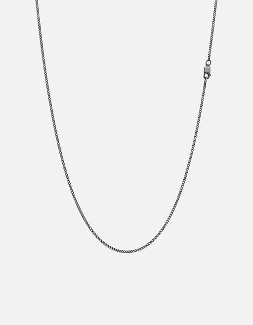 1.3mm Cuban Chain Necklace, Sterling Silver