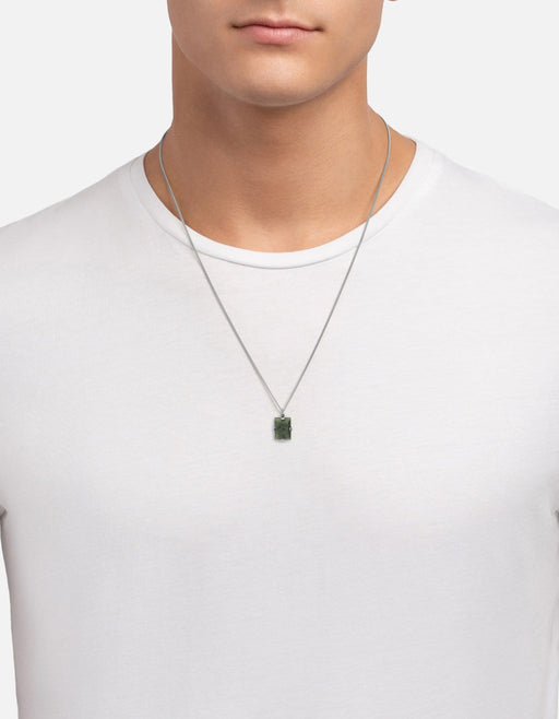 Lennox Jasper Necklace, Sterling Silver - Miansai